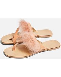 TOPSHOP - Holly Fluff Sandals - Lyst