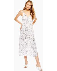 c5a8c1373194d TOPSHOP Animal Print Slip Dress in Black - Lyst