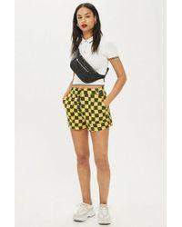 TOPSHOP - Checkboard Shorts - Lyst