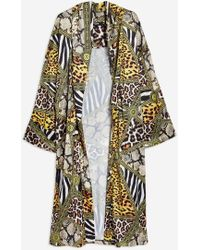 Jaded London - Animal Print Kimono By - Lyst