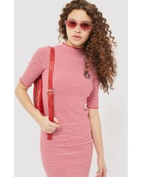 TOPSHOP - Tall Lattice Embroidered Bodycon Dress - Lyst