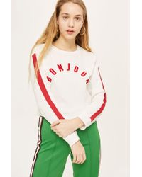 TOPSHOP | 'bonjour' Long Sleeve Top | Lyst