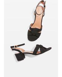 TOPSHOP - Dandy Black Two Part Sandals - Lyst