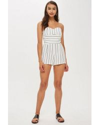 Love - strapless Playsuit By - Lyst