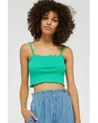 TOPSHOP - Tall Riley Lettuce Edge Camisole Top - Lyst