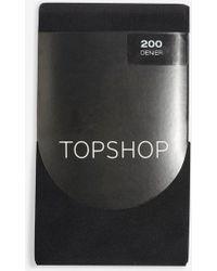 a36abe20d663d TOPSHOP Gold Fine Glitter Ankle Socks in Metallic - Lyst