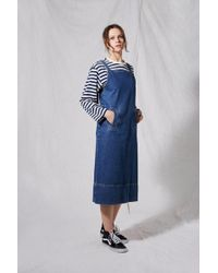 TOPSHOP - Denim Pinafore Dress By Boutique - Lyst