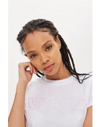 Ivy Park - Holographic Crew Neck T-shirt By - Lyst