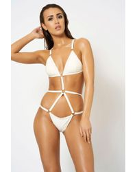 Club L - White Ring Detail Swimsuit By - Lyst