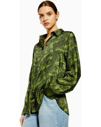 TOPSHOP - Alligator Shirt By Boutique - Lyst