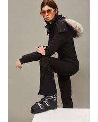 TOPSHOP - Black Long Sleeve Ski Suit - Lyst