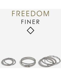 TOPSHOP - freedom Finer Rhinestone Stack Rings - Lyst