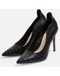 TOPSHOP - wide Fit Sammy Court Shoes - Lyst