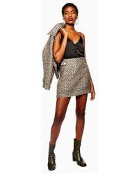 TOPSHOP - Gem Boucle Skirt - Lyst