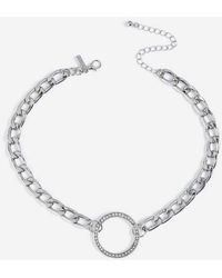 TOPSHOP - chain And Circle Choker - Lyst