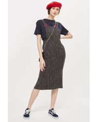 TOPSHOP - Boucle Pinafore Dress - Lyst