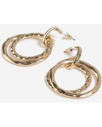 TOPSHOP - Hammered Circle Earrings - Lyst