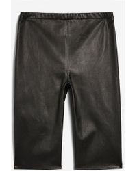 TOPSHOP - Leather Shorts By Boutique - Lyst