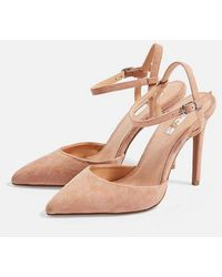 a7f6f262df9f TOPSHOP Gail Leopard Print Slingback Shoes - Lyst