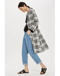 TOPSHOP - Window Pane Duster Coat - Lyst