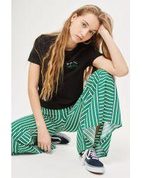 TOPSHOP - Alligator Motif T-shirt - Lyst