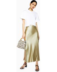 cf66e701c1 TOPSHOP Black Jersey Pleat Maxi Skirt in Black - Lyst
