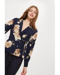 Love - Floral Print Wrap Top By - Lyst