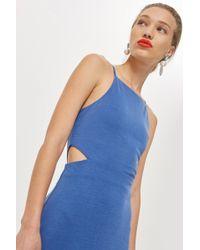 TOPSHOP - Cut Out Side Midi Slip Dress - Lyst