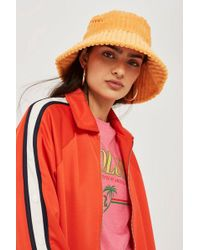 TOPSHOP - Chunky Cord Bucket Hat - Lyst