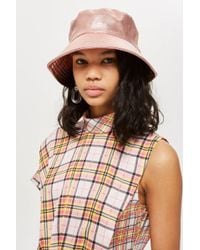 TOPSHOP - Metallic Bucket Hat - Lyst