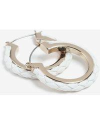 TOPSHOP - Fabric Inlay Hoop Earrings - Lyst