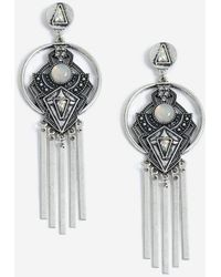 TOPSHOP - Engraved Stick Drop Earrings - Lyst