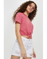 TOPSHOP - Ashley Mid Rise Shorts - Lyst