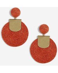 TOPSHOP - Wrapped Disc Drop Earrings - Lyst
