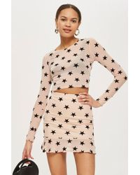 Oh My Love - Star Print Mini Skirt By - Lyst
