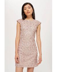TOPSHOP - pica Shift Dress By Lace & Beads - Lyst
