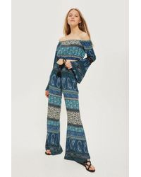Band Of Gypsies - Printed Flared Trousers By - Lyst