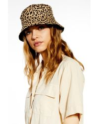 dcb65138c52b1 TOPSHOP Chunky Cord Bucket Hat in Orange - Lyst