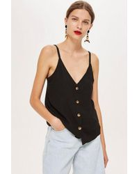 TOPSHOP - Button Down Cami Top - Lyst