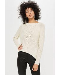 TOPSHOP - Stitch Detail Jumper - Lyst