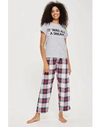 TOPSHOP - 'it Was All A Dream' Pyjama Set - Lyst