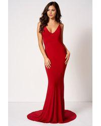 Club L - Knot Camisole Fishtail Maxi Dress By London - Lyst