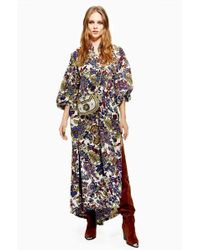 TOPSHOP - Ixed Floral Maxi Dress - Lyst