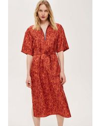 TOPSHOP - Utility Shard Dress By Boutique - Lyst