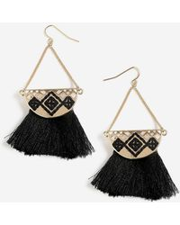TOPSHOP - Embroidered Tassel Drops - Lyst