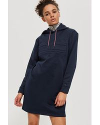 TOPSHOP - Logo Hooded Shift Dress By Tommy Jeans - Lyst