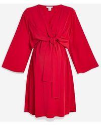 TOPSHOP - maternity Nursing Mini Dress - Lyst