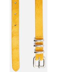 TOPSHOP - Leather Skinny Belt - Lyst