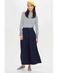 TOPSHOP | Petite Horn Button Palazzo Trousers | Lyst