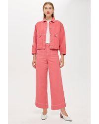 TOPSHOP - pink Denim Culotte Jeans By Boutique - Lyst